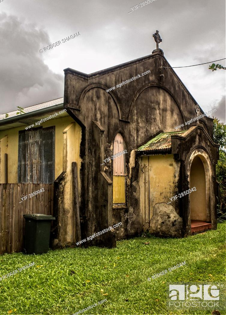 Stock Photo: Old desanctified church to be converted to accommodation.