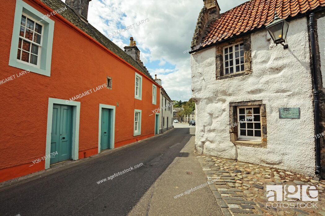 Stock Photo: Culross is a former royal burgh in Fife, Scotland founded in 6th century.