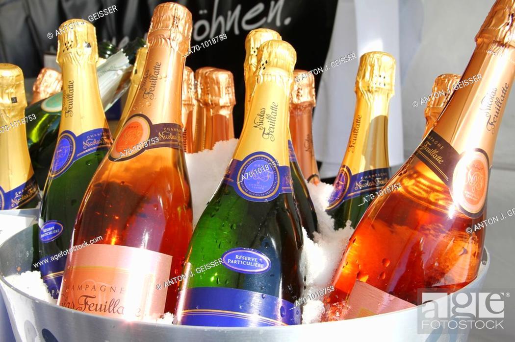 Stock Photo: Champagne Bottles France.