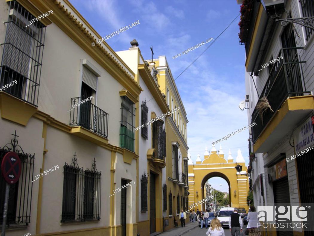 Stock Photo: San Luis street. Macarena neighbourhood. Sevilla. Andalucia. Spain.
