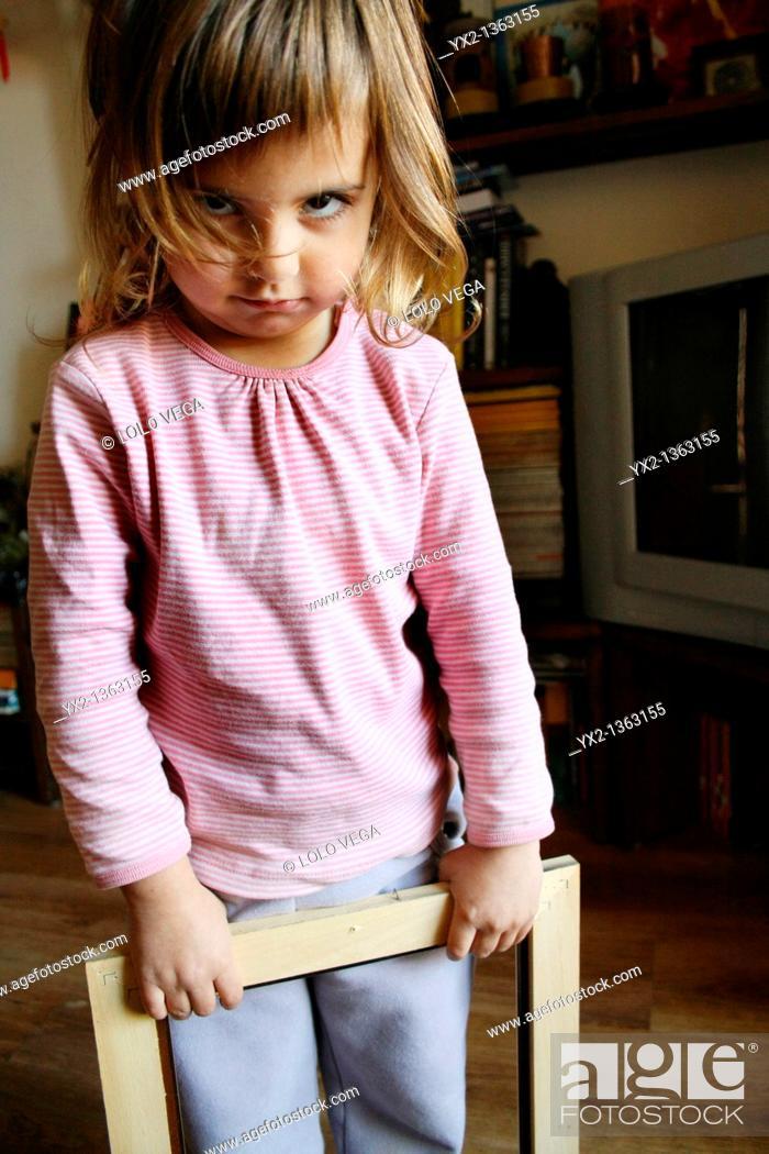 Stock Photo: angry girl.