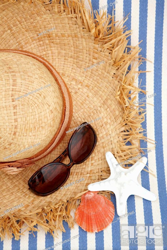 Stock Photo: a sun bed on the beach.