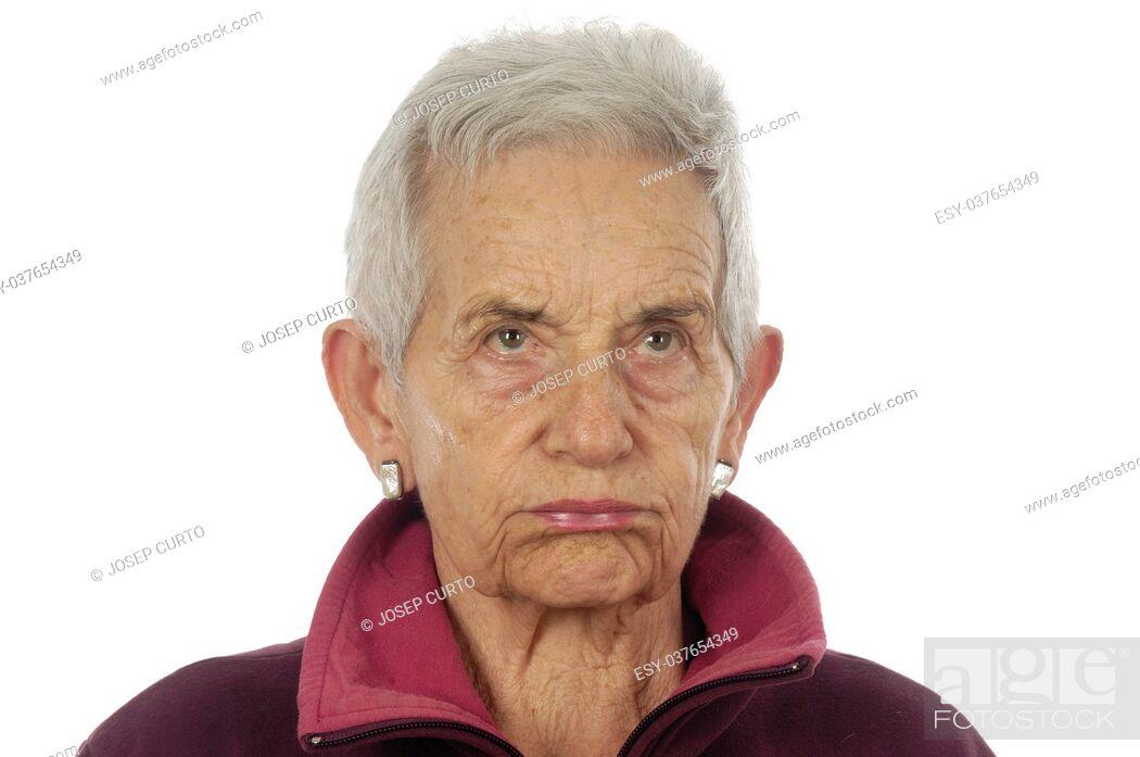 Photo de stock: anger senior woman.