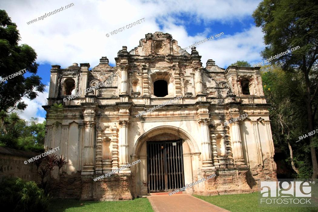 Stock Photo: San Jose el Viejo, chapel facade, colonial ruins, Antigua, UNESCO World Heritage Site, Guatemala, Central America.