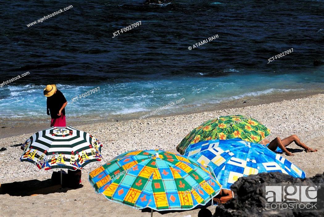 Stock Photo: Reunion, Boucan Canot, the beach.