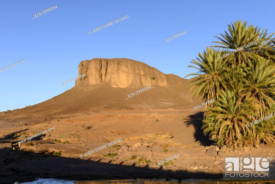 Stock Photo: Typical landscape near Tizgzaouine, Morocco, Africa.