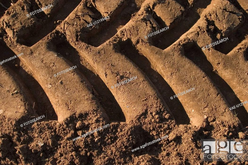 Stock Photo: brown, close-up, agriculture equipment.