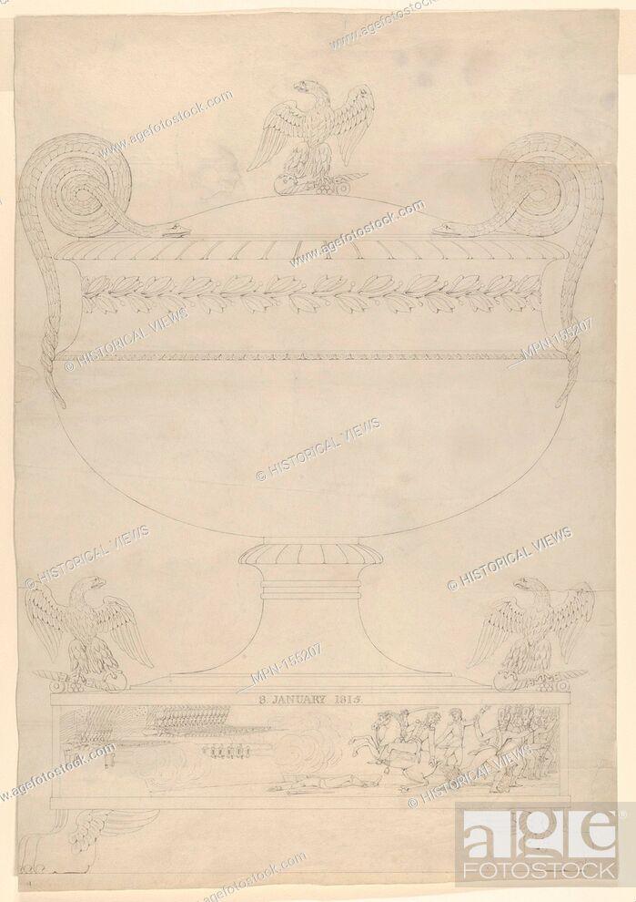 Stock Photo: Design for a covered vase. Artist: Thomas Fletcher (American, Alstead, New Hampshire 1787-1866 New Jersey); Artist: Sidney Gardiner (American, Mattituck.