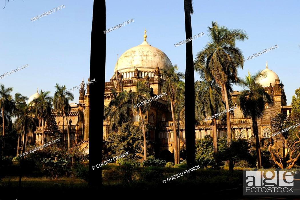 Stock Photo: India, Maharashtra state, Mumbai Bombay, Chhatrapati Shivaji Maharaj Vastu Sangrahalaya Museum, former Prince of Wales Museum.