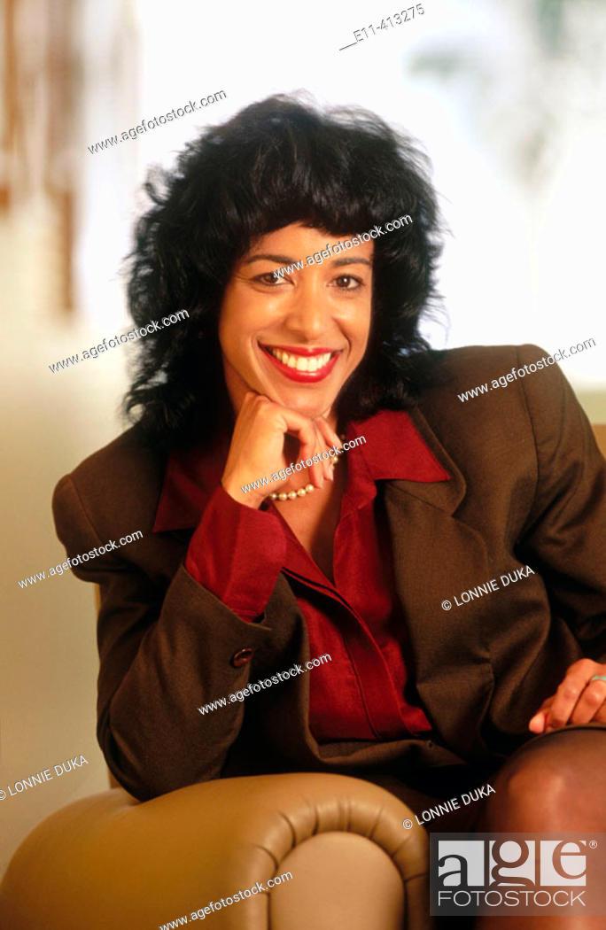Stock Photo: Portrait of African-American businesswoman.