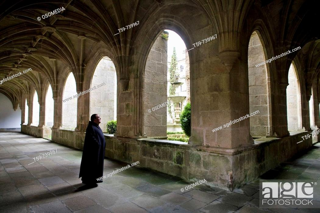 Cloister Of The Royal Benedictine Abbey Of San Julian Samos Stock Photo Picture And Rights Managed Image Pic T59 739967 Agefotostock