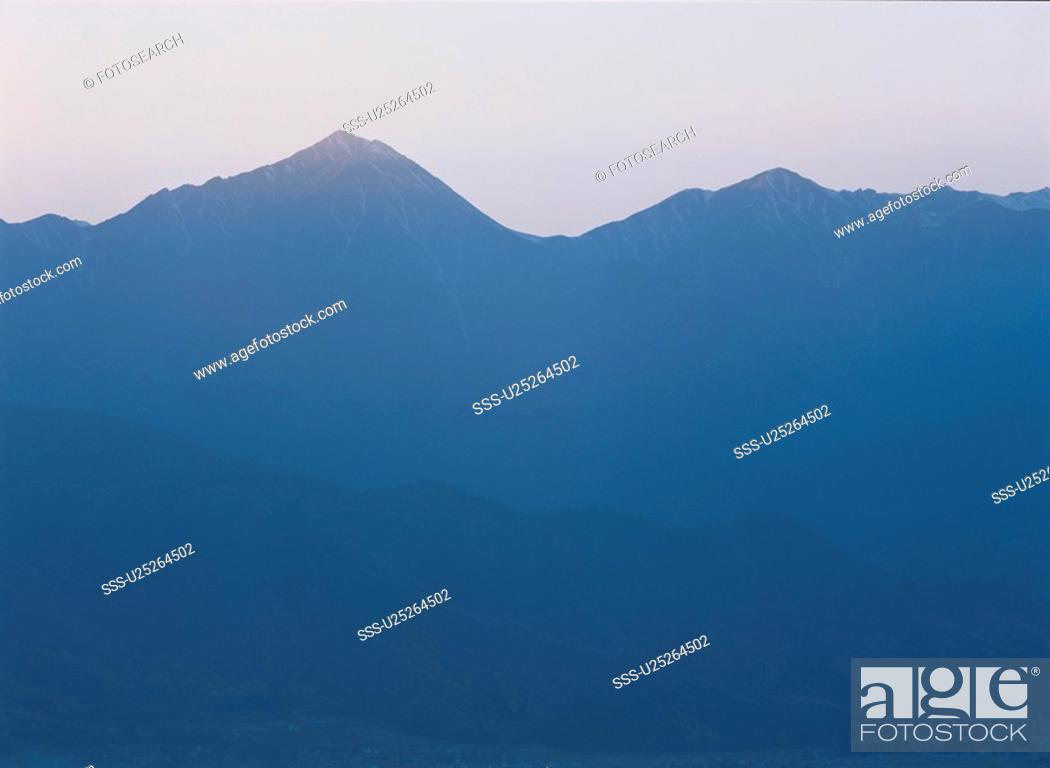 Stock Photo: Mountains In Mist.