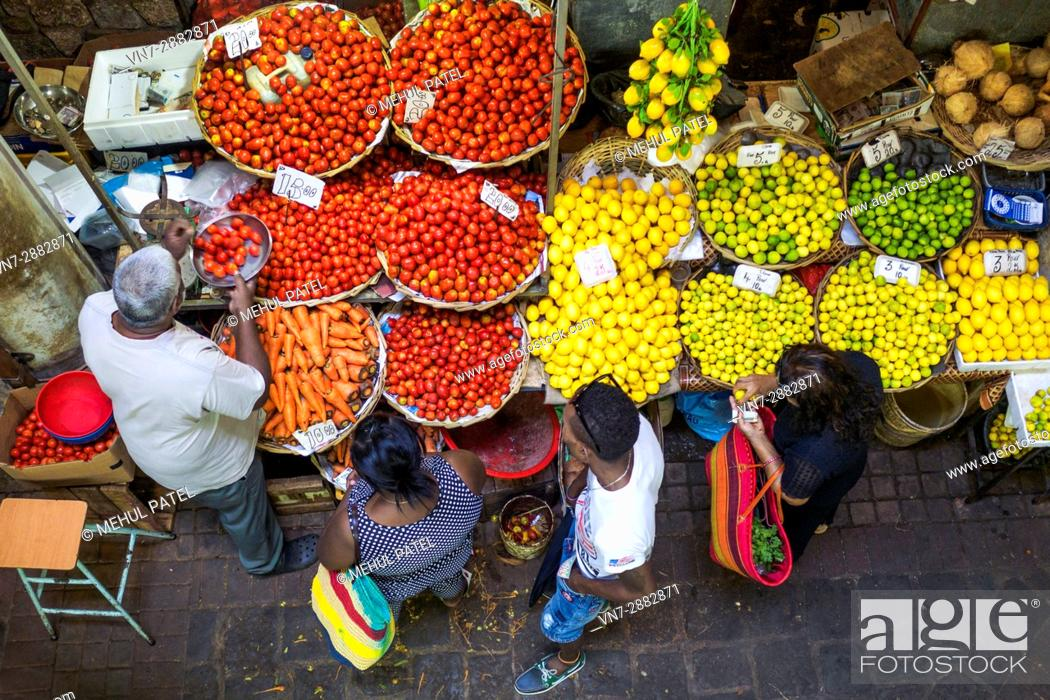 Stock Photo: Produce at Central Market, Port Luis, Mauritius, Africa.