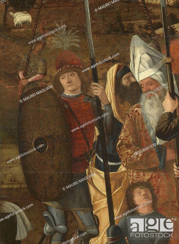 Stock Photo: Halberdiers and Old Men (Alabardieri e anziani), by Vittore Carpaccio, 1490, 15th Century, tempera on canvas, 68 x 42 cm.