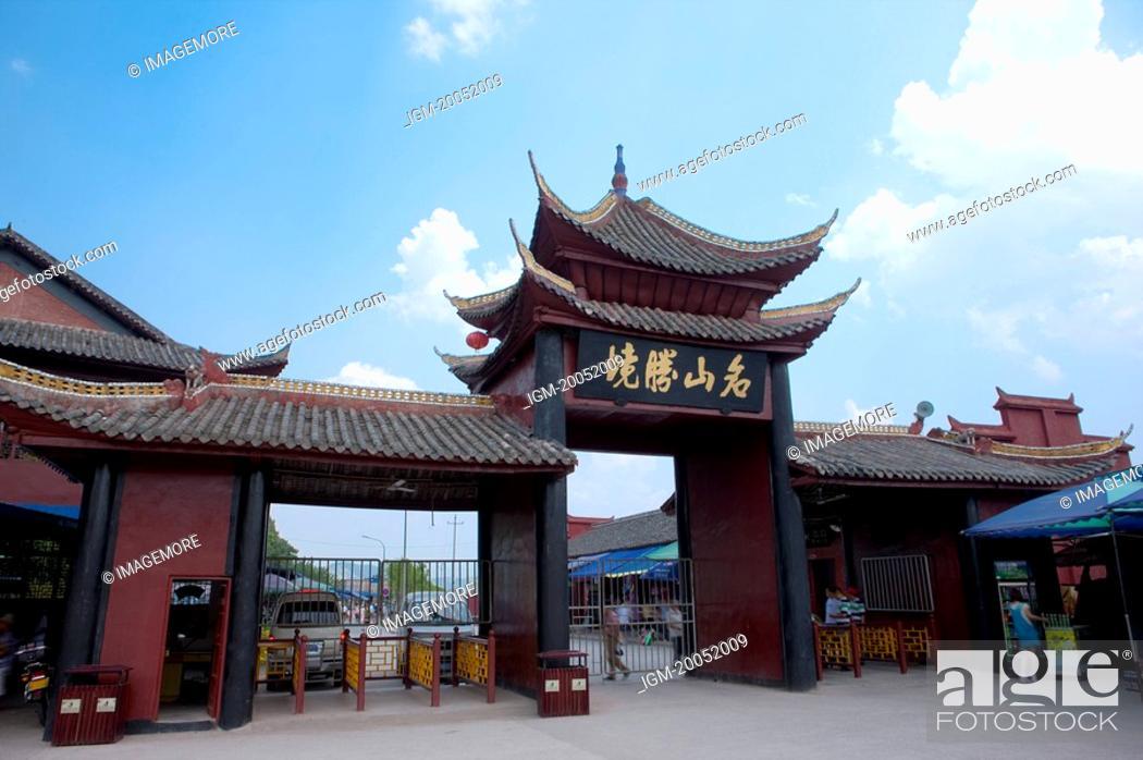 Stock Photo: China, Yangtze River, Three Gorges, Fengdu, Ghost City.