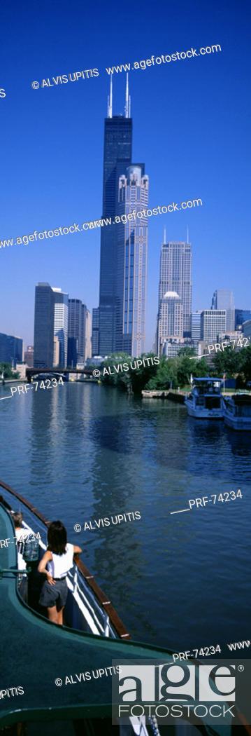 Stock Photo: Chicago River Chicago IL USA.
