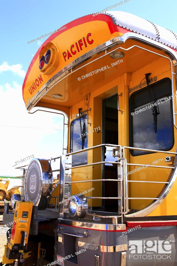 Imagen: The end carriage of the Big Boy 4014 Union Pacific Railroad anniversary tour at Tucson AZ.