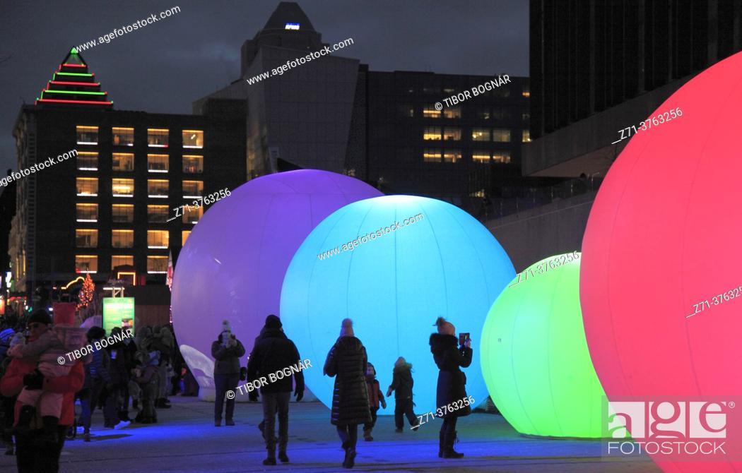 Stock Photo: Cananda, Quebec, Montreal, Christmas, decoration, .