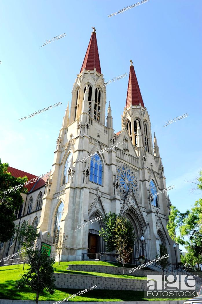 Stock Photo: Catholic Cathedral of St  Helena Montana MT US.