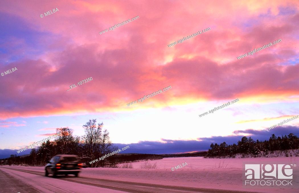 Stock Photo: Landscape of Lapland Finland.