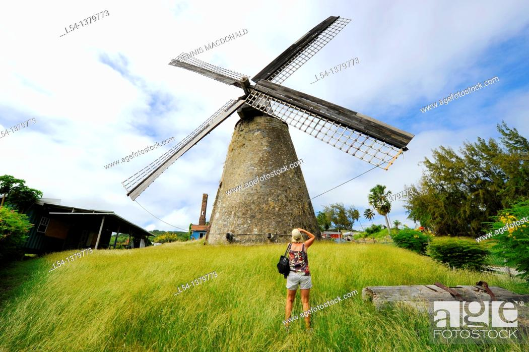 Stock Photo: Morgan Lewis Sugar Mill Bridgetown Barbados Caribbean Cruise NCL.
