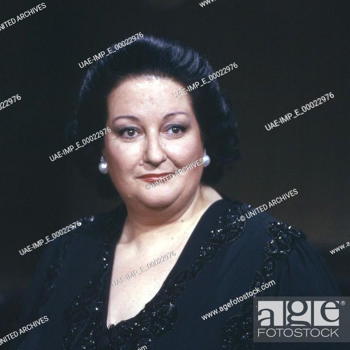 Stock Photo: Die spanische Opernsängerin Montserrat Caballe, Deutschland 1990er Jahre. Spanish opera singer Montserrat Caballe, Germany 1990s.