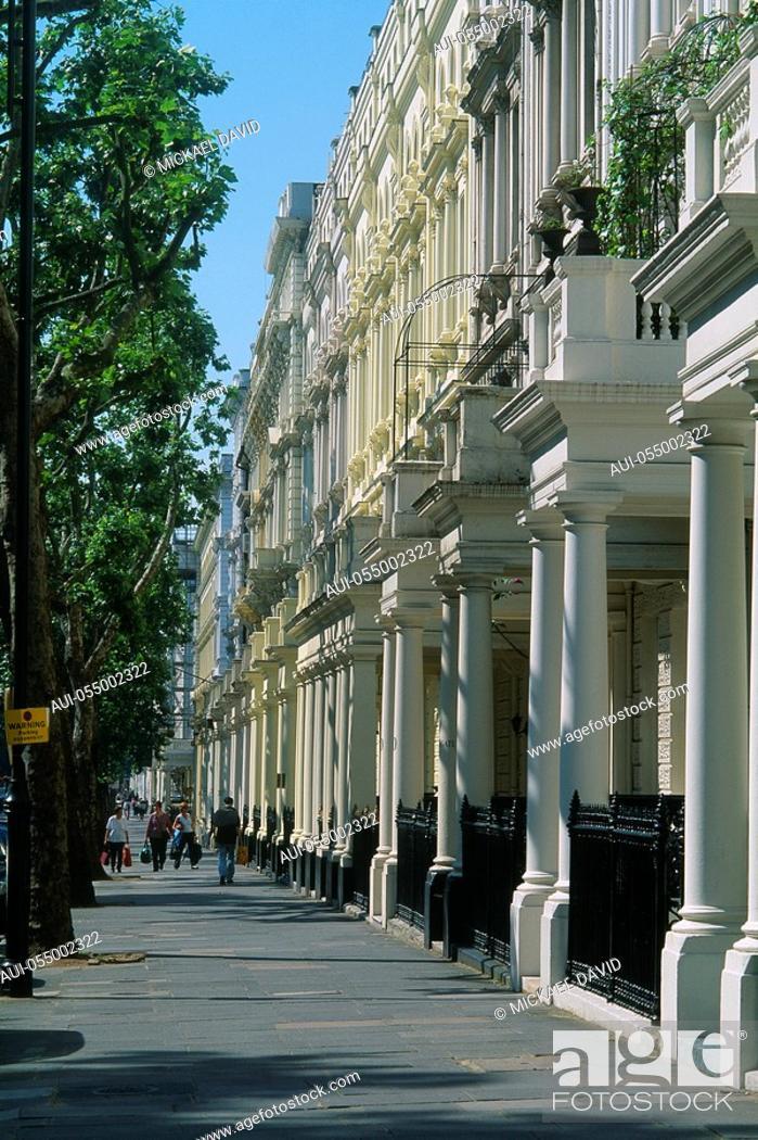 Stock Photo: England - London - Kensington - Queen's Gate.