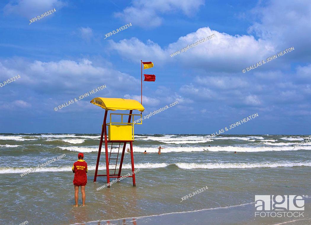 Romania, Mamaia, Black Sea, Beach, Lifesaver, Salvamar