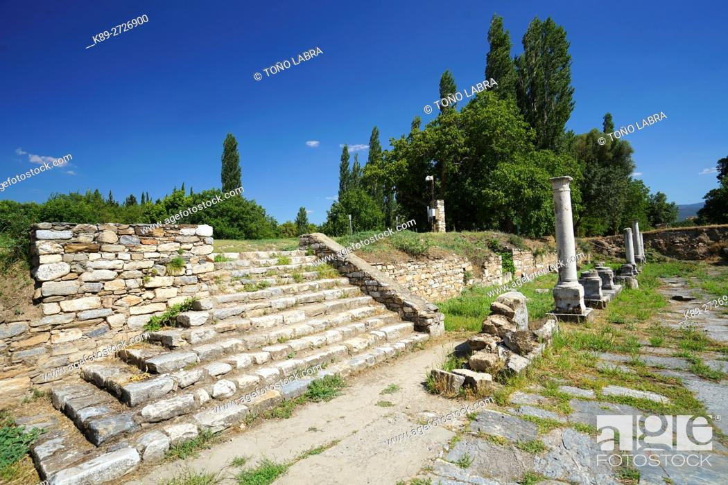 Stock Photo: Aphrodisias Tetrapylon Square. Ancient Greece. Asia Minor. Turkey.