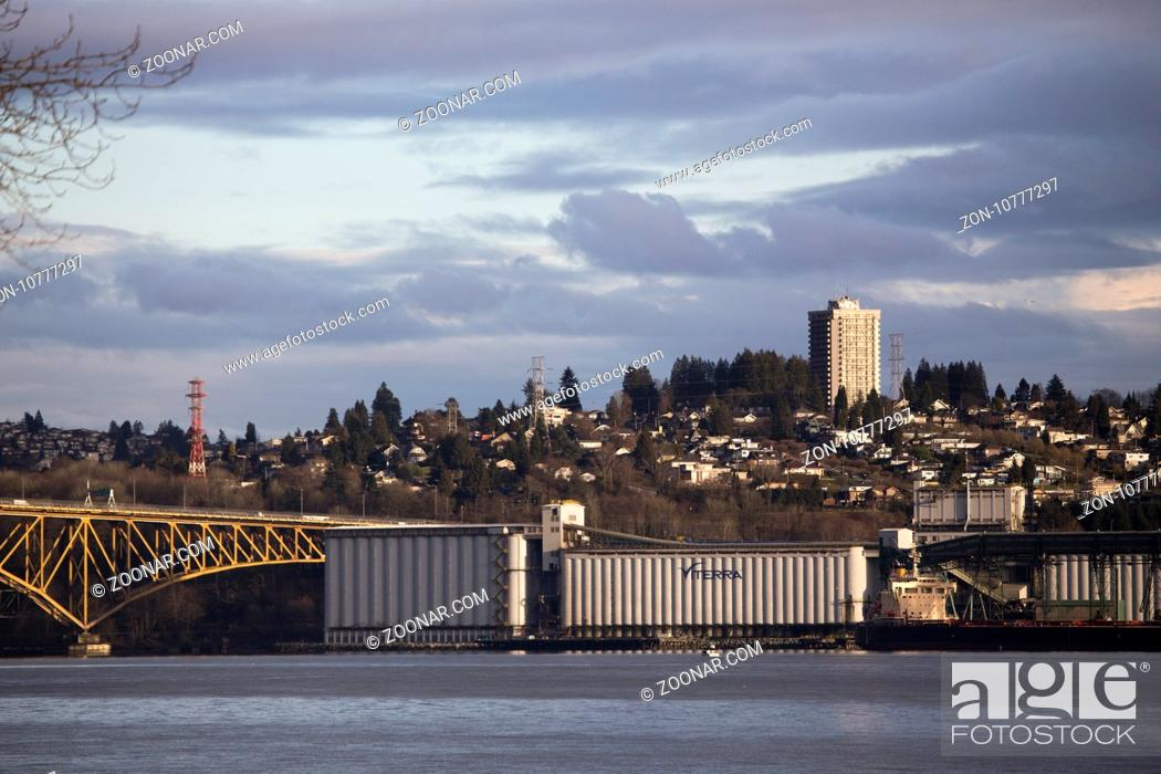 Stock Photo: Burnaby British Columbia Vancouver Canada From North Vancouver.