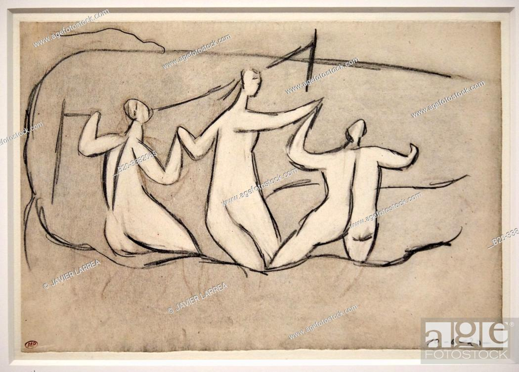 "Stock Photo: ""Trois Baigneuses"", 1920, Pablo Picasso, Picasso Museum, Paris, France, Europe."