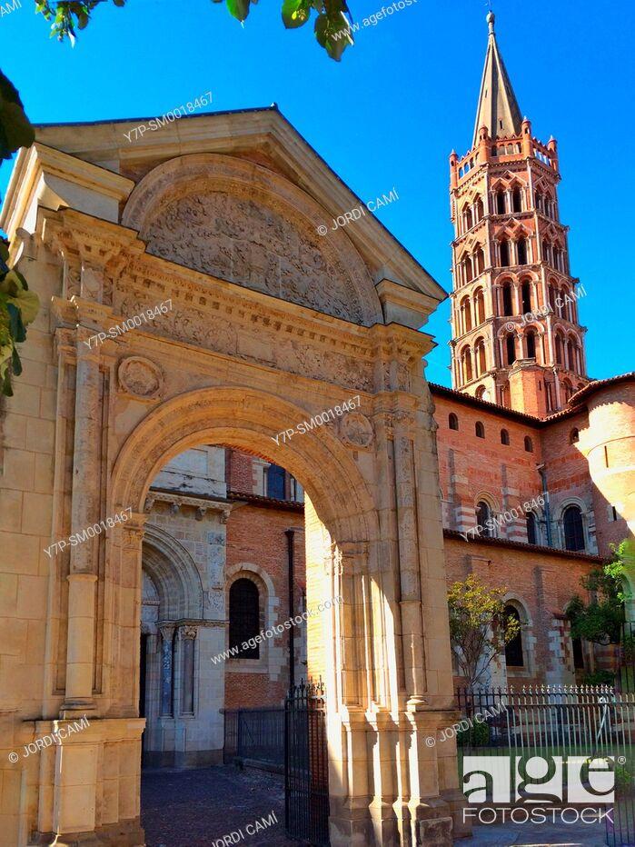 Stock Photo: Basilique Saint Sernin. Toulouse.Haute Garonne.France.