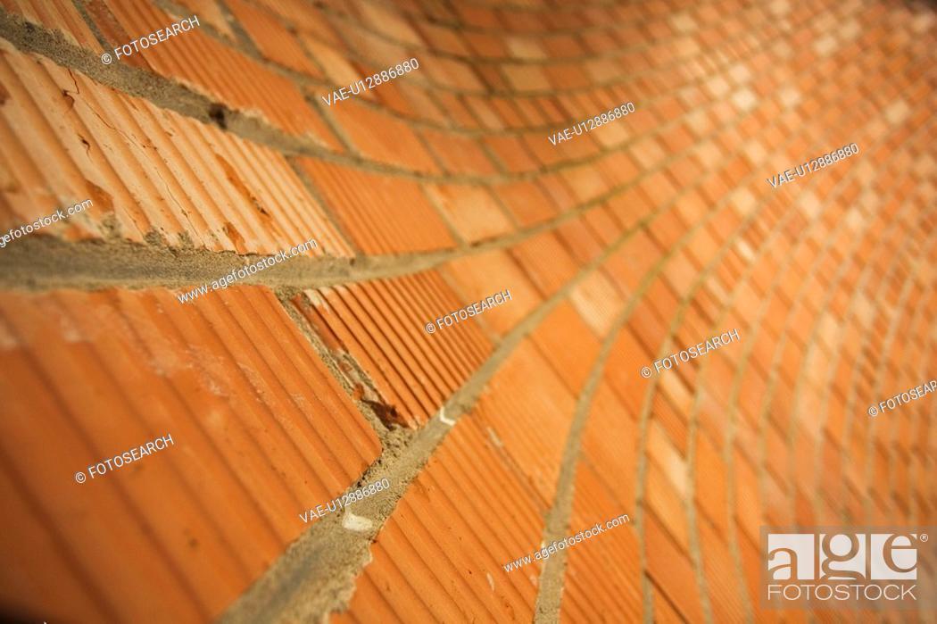 Stock Photo: Arrangement, Close-Up, Brick, Blurred, Architecture.