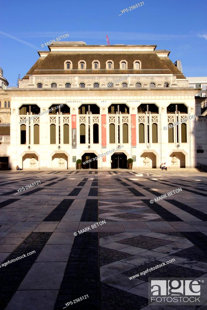 Stock Photo: Guildhall art Gallery in the City of London England.
