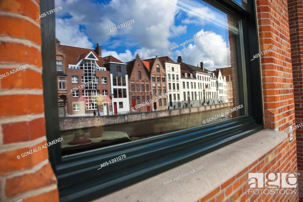 Stock Photo: Bruges, Brugge, Flanders, Belgium, UNESCO World Heritage Site.