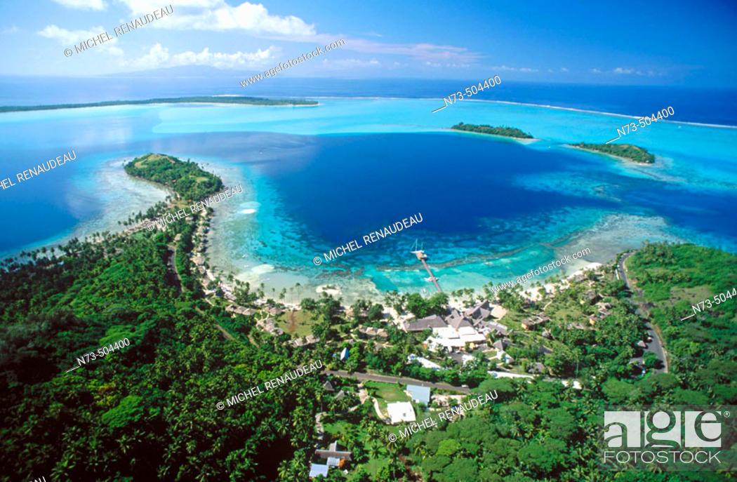 Stock Photo: Bora Bora aerial view. Polynesia.