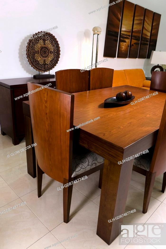 Stock Photo: Interiors of a dining room.