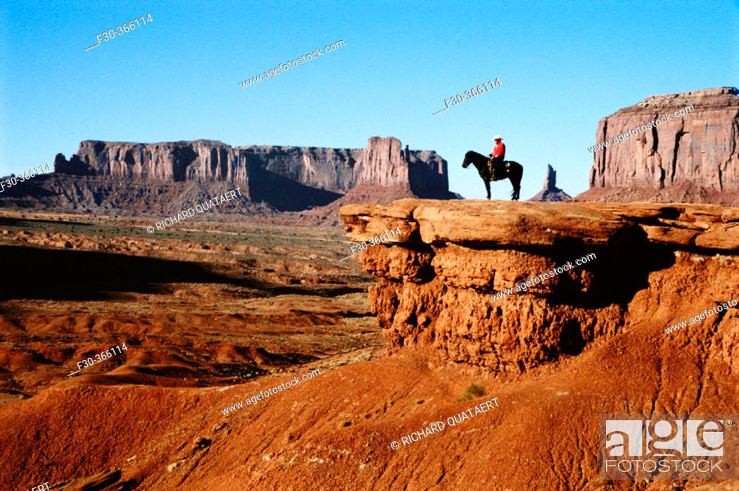 Stock Photo: Horse of Raider. John Ford's Point. Monument Valley. Arizona. USA.