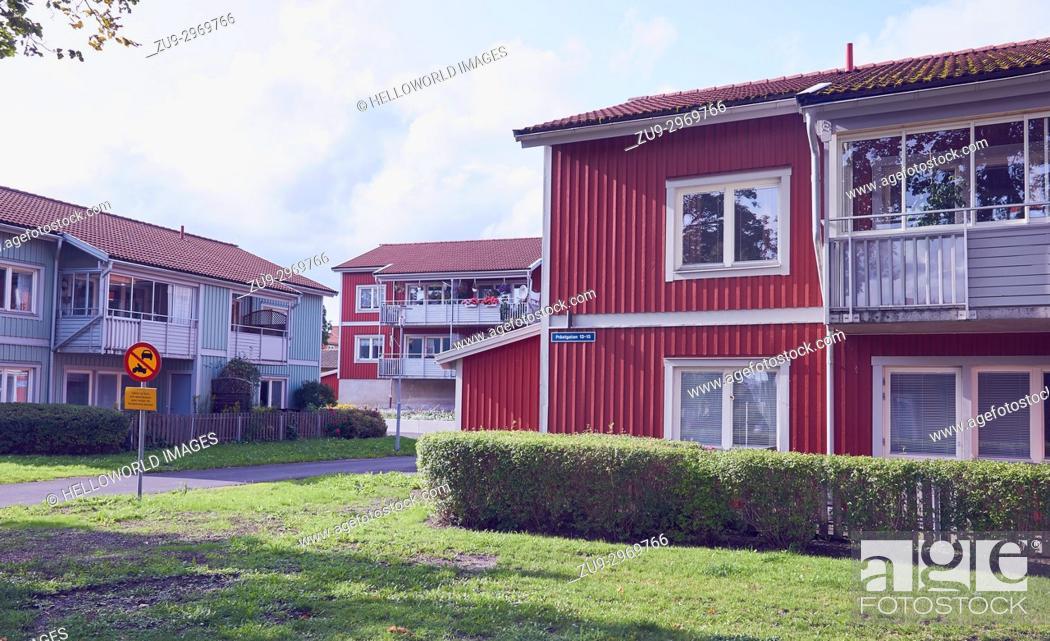 Photo de stock: Housing estate, Osthammar, Uppsala County, Sweden, Scandinavia.