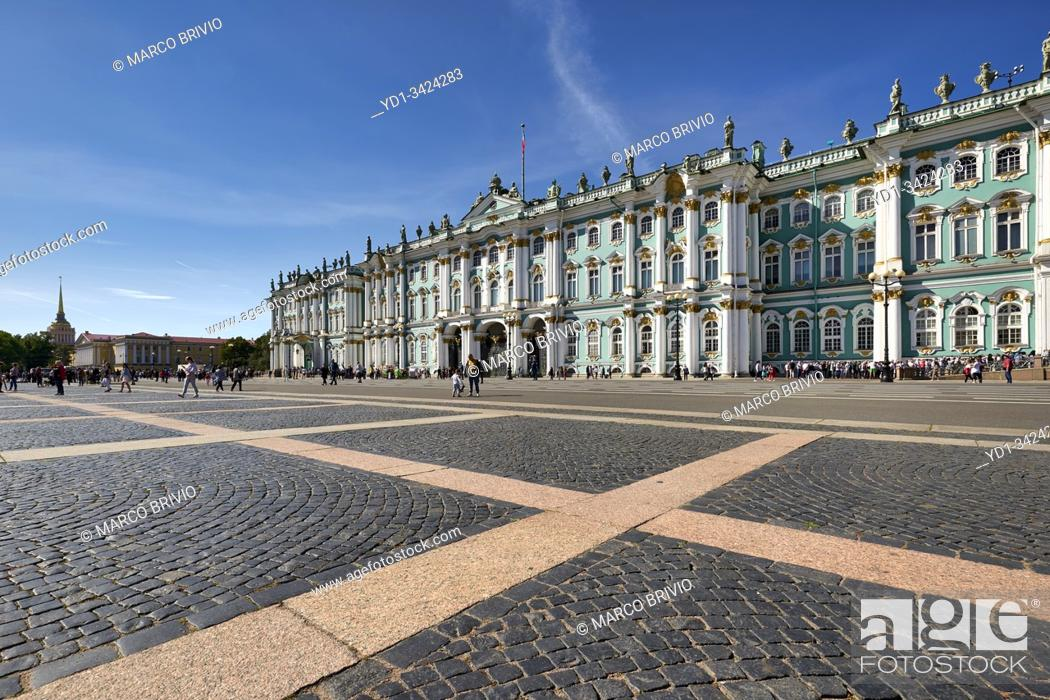 Stock Photo: St. Petersburg Russia. The Winter Palace Hermitage Museum.