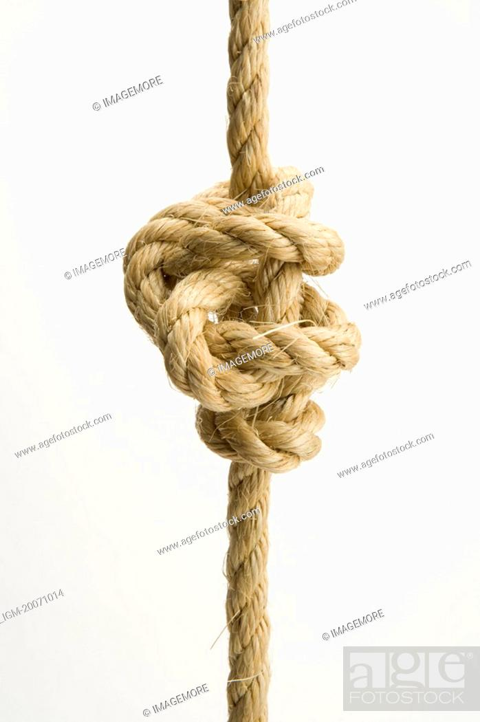 Stock Photo: Tied knot of a rope.