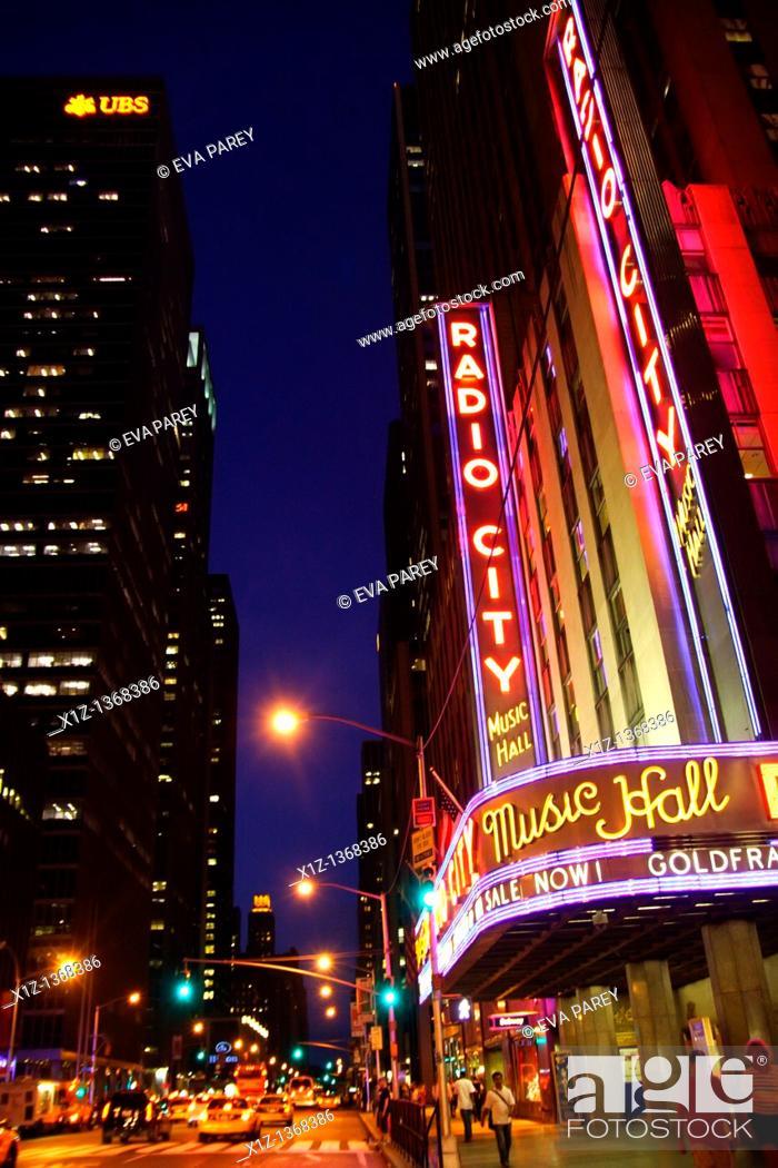 Stock Photo: Radio City Music Hall in Midtown Manhattan New York City.