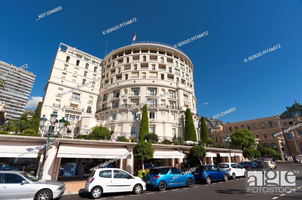 Stock Photo: Hotel de Paris, Montecarlo, Principauté de Monaco.