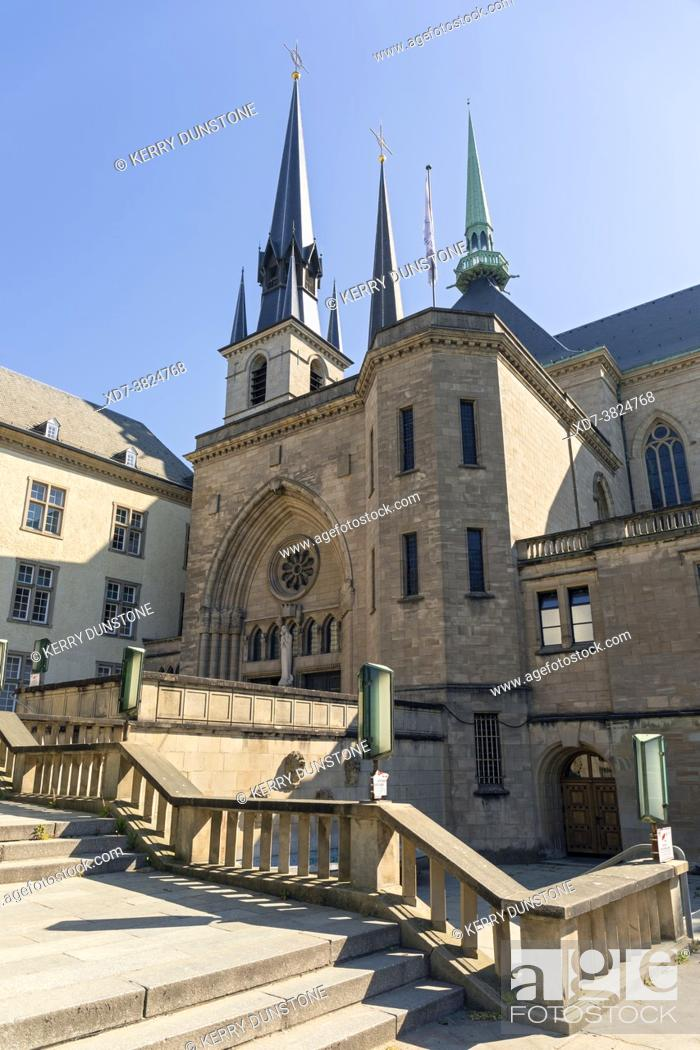 Stock Photo: Europe, Luxembourg, Luxembourg City, Notre-Dame Cathedral.