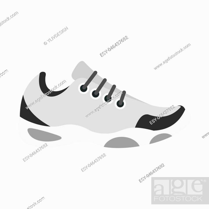 Imagen: Sneakers for tennis icon isolated on white background illustration.