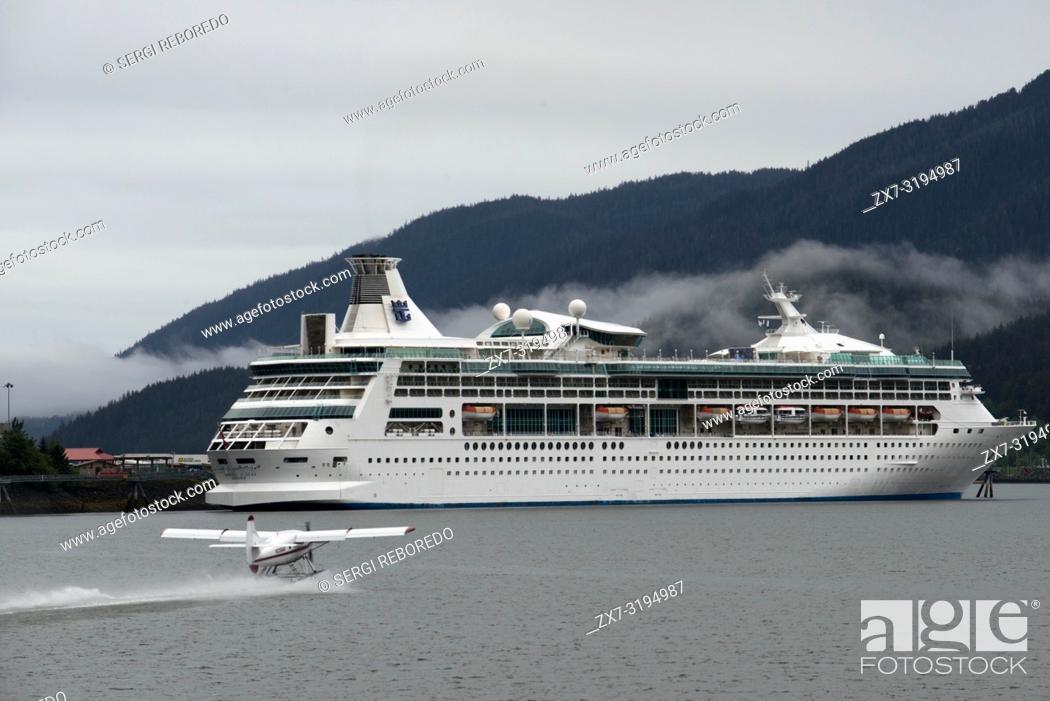 Rhapsody of the Seas, sailing near the South Franklin dock, Juneau