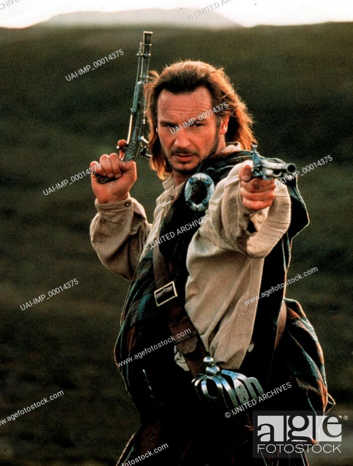 Stock Photo: Rob Roy, (ROB ROY) USA 1995, Regie: Michael Caton-Jones, LIAM NEESON, Stichwort: Pistolen, Revolver, Schotte.