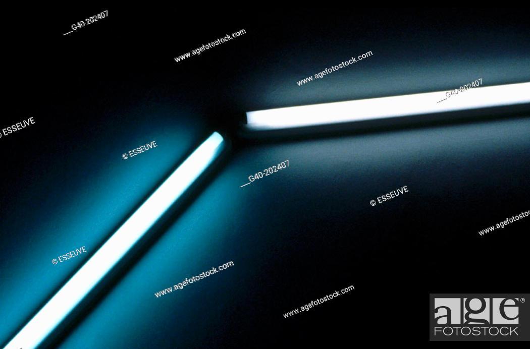 Stock Photo: Fluorescent lamps.