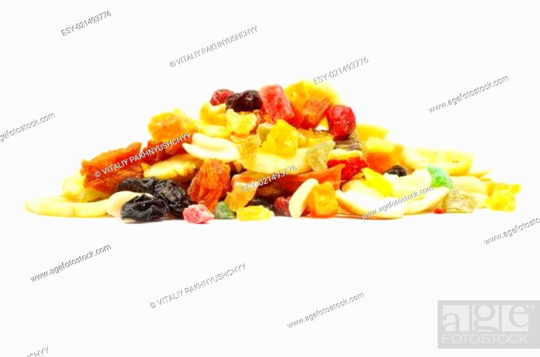 Stock Photo: mix dried fruits.