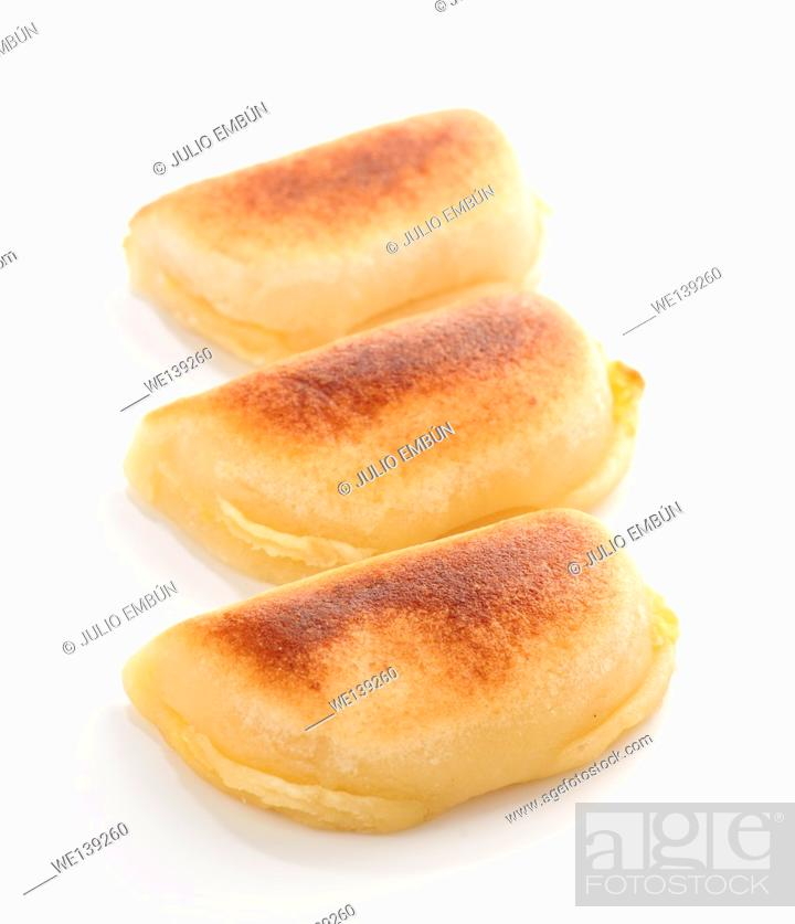 Photo de stock: Portions of nougat marzipan.